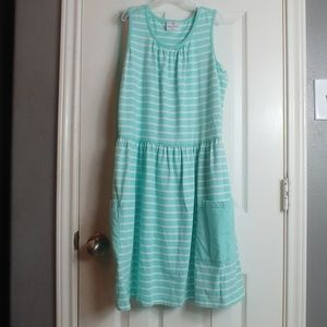HANNA ANDERSON SLEEVELESS POCKET STRIPED DRESS